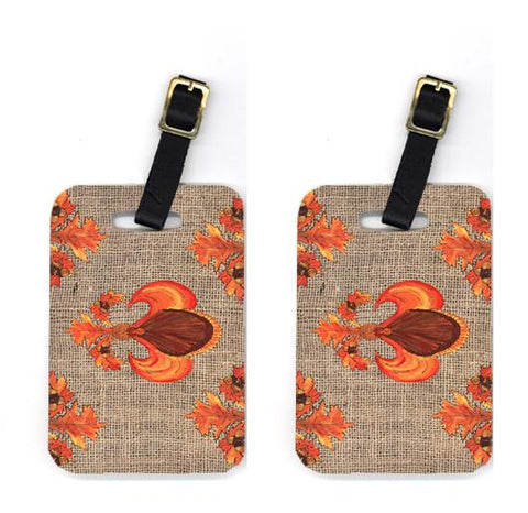 Buy this Pair of Thanksgiving Turkey Fleur de lis Luggage Tags