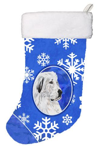Great Pyrenees Winter Snowflakes Christmas Stocking SC9786-CS by Caroline's Treasures