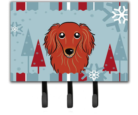 Buy this Winter Holiday Longhair Red Dachshund Leash or Key Holder BB1710TH68