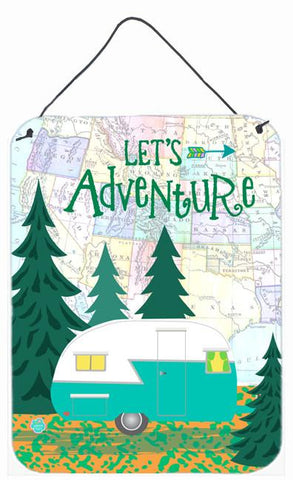 Buy this Let's Adventure Glamping Trailer Wall or Door Hanging Prints VHA3003DS1216