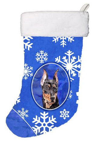 Buy this German Pinscher Winter Snowflakes Christmas Stocking SC9788-CS