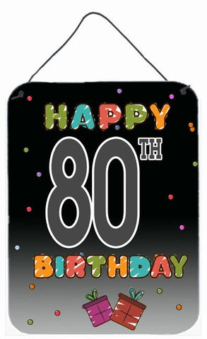Buy this Happy 80th Birthday Wall or Door Hanging Prints CJ1127DS1216