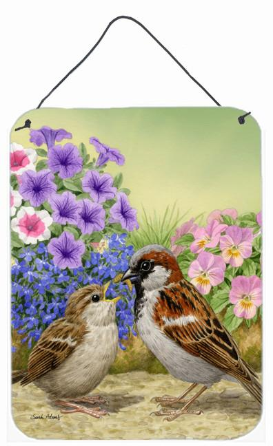 House Sparrows Wall or Door Hanging Prints ASA2112DS1216 by Caroline's Treasures