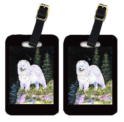 Buy this Starry Night Samoyed Luggage Tags Pair of 2