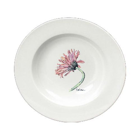 Buy this Flower - Gerber Daisy Round Ceramic White Soup Bowl 8853-SBW-825