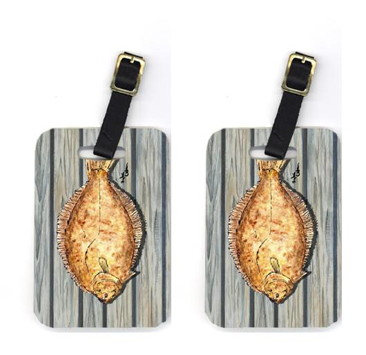 Buy this Pair of Fish Flounder Luggage Tags