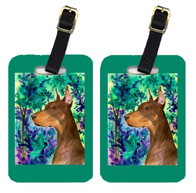 Buy this Pair of 2 Doberman Luggage Tags