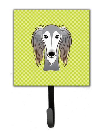 Buy this Checkerboard Lime Green Saluki Leash or Key Holder BB1291SH4