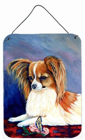 Buy this Sable Papillon with a Butterfly and rose Aluminium Wall or Door Hanging Prints