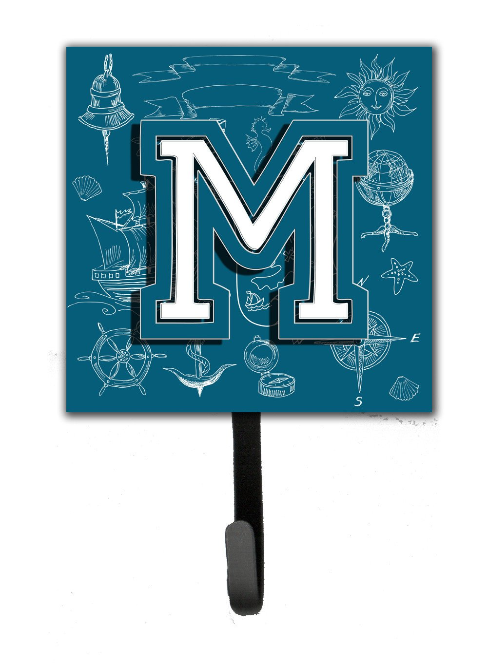 Letter M Sea Doodles Initial Alphabet Leash or Key Holder CJ2014-MSH4 by Caroline's Treasures
