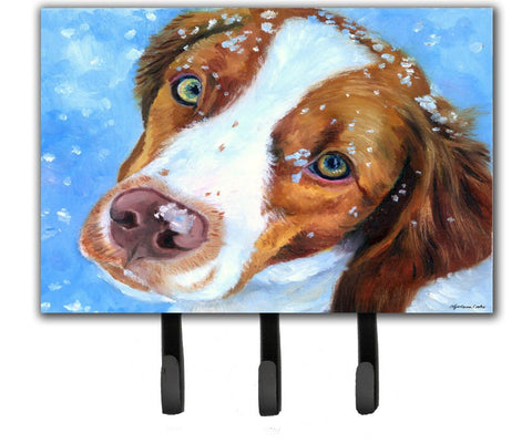 Buy this Snow Baby Brittany Spaniel Leash or Key Holder 7348TH68