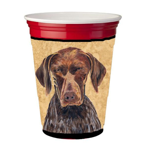 Buy this German Shorthaired Pointer Red Solo Cup Beverage Insulator Hugger
