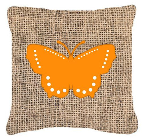 Buy this Butterfly Burlap and Orange   Canvas Fabric Decorative Pillow BB1033