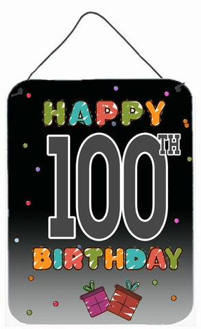Buy this Happy 100th Birthday Wall or Door Hanging Prints CJ1129DS1216