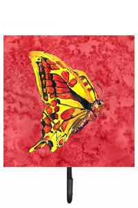 Butterfly on Red Leash or Key Holder by Caroline's Treasures