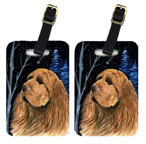 Buy this Starry Night Sussex Spaniel Luggage Tags Pair of 2