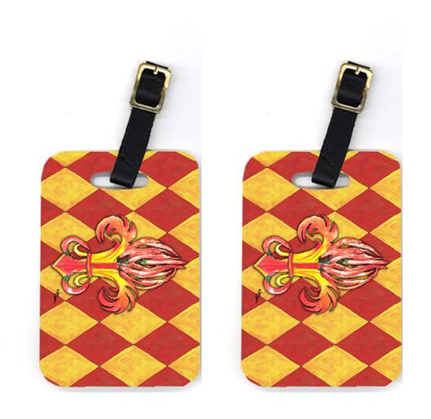 Buy this Pair of Peppers Fleur de lis Luggage Tags