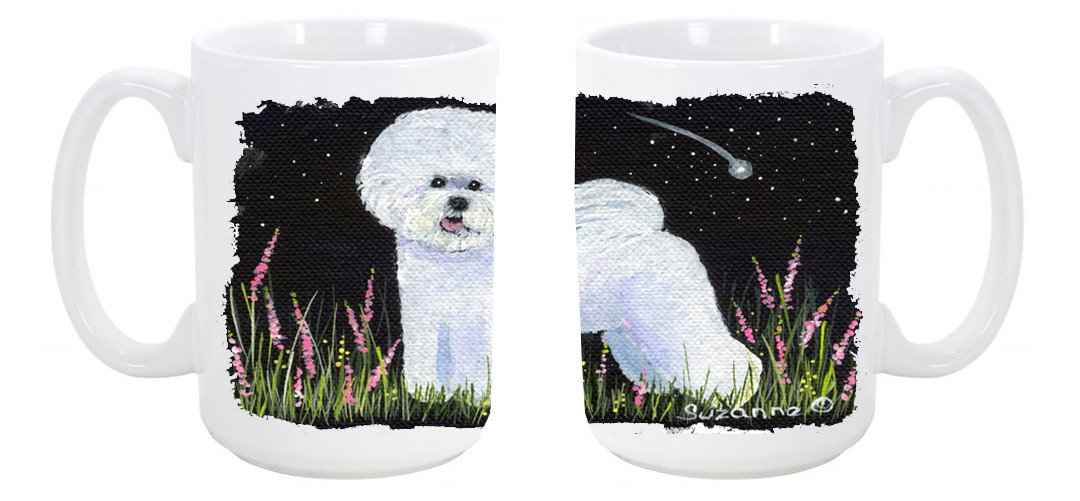 Bichon Frise Dishwasher Safe Microwavable Ceramic Coffee Mug 15 ounce SS8143CM15 by Caroline's Treasures