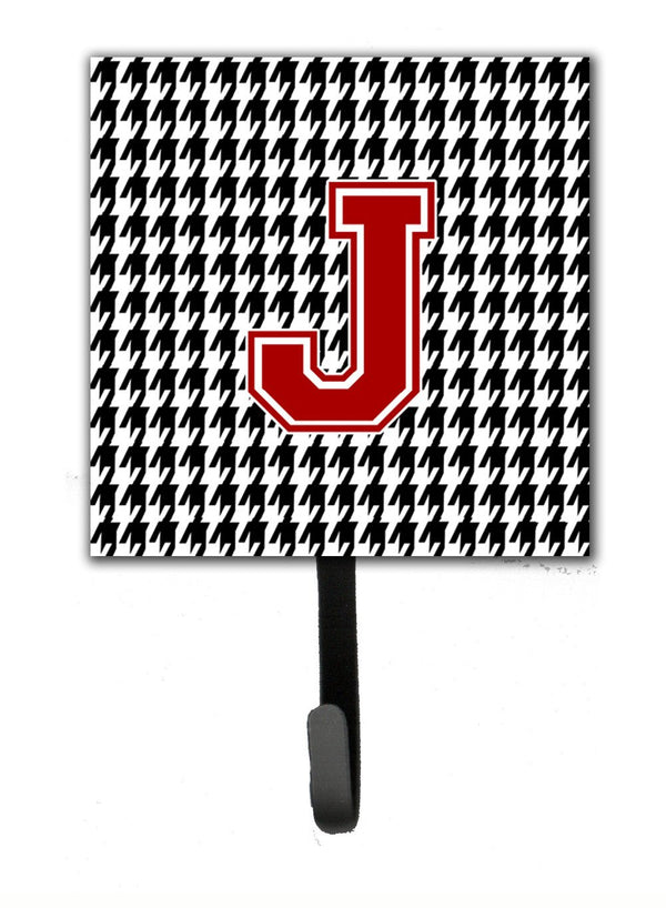 Monogram Initial J Houndstooth Leash Holder Or Key Hook