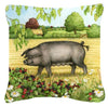 Pigs Bramble in Berries Canvas Decorative Pillow CDCO0376PW1414 - the-store.com