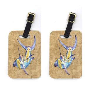 Buy this Pair of Blue Marlin Luggage Tags