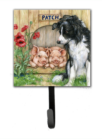 Buy this Patch the Border Collie and Piglet Friends Leash or Key Holder CDCO0362SH4