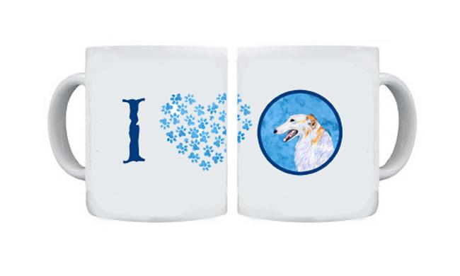 Borzoi  Dishwasher Safe Microwavable Ceramic Coffee Mug 15 ounce SS4751 by Caroline's Treasures