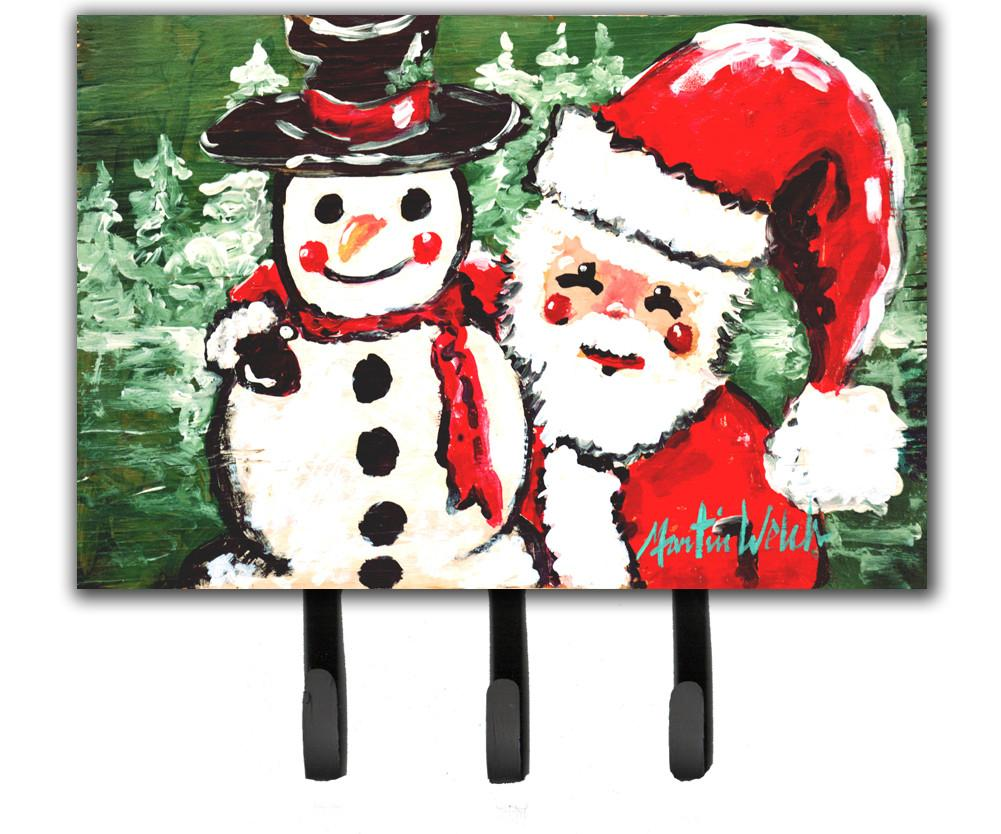 Friends Snowman and Santa Claus Leash or Key Holder MW1167TH68 by Caroline's Treasures