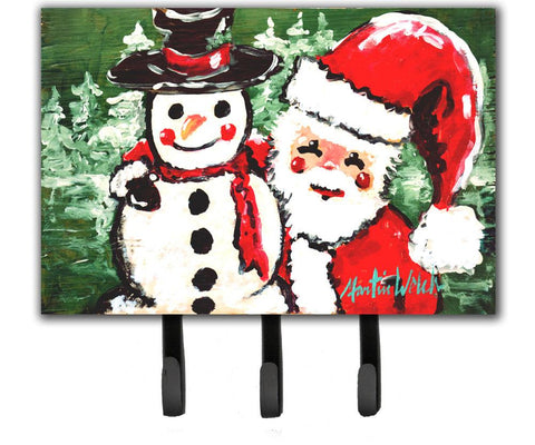 Buy this Friends Snowman and Santa Claus Leash or Key Holder MW1167TH68