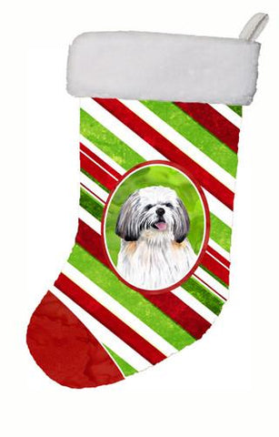 Buy this Shih Tzu Candy Cane Holiday Christmas  Christmas Stocking SC9343
