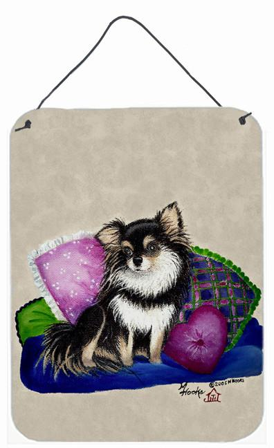 Chihuahua on their couch Wall or Door Hanging Prints MH1012DS1216 by Caroline's Treasures