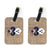 Buy this Pair of Halloween Ghost Spider Bat Fleur de lis Luggage Tags
