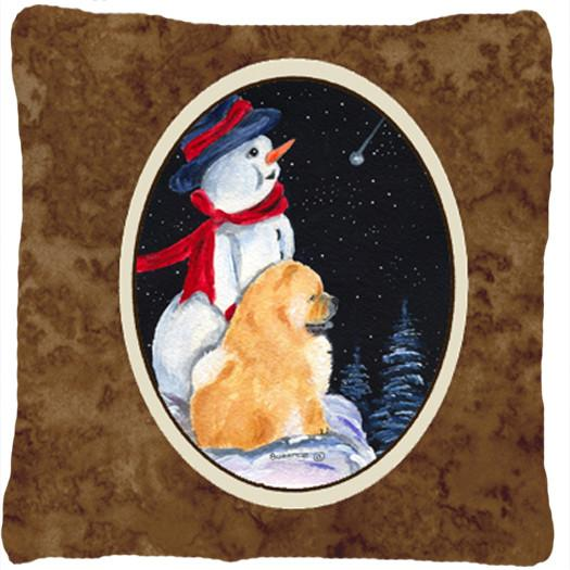 Snowman with Chow Chow Decorative   Canvas Fabric Pillow by Caroline's Treasures