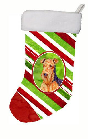 Buy this Airedale Candy Cane Holiday Christmas Christmas Stocking LH9246