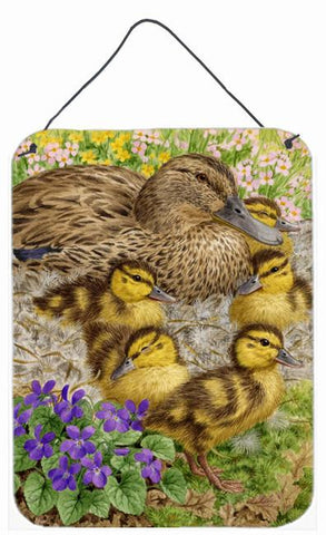 Buy this Female Mallard Duck and Ducklings Wall or Door Hanging Prints ASA2084DS1216