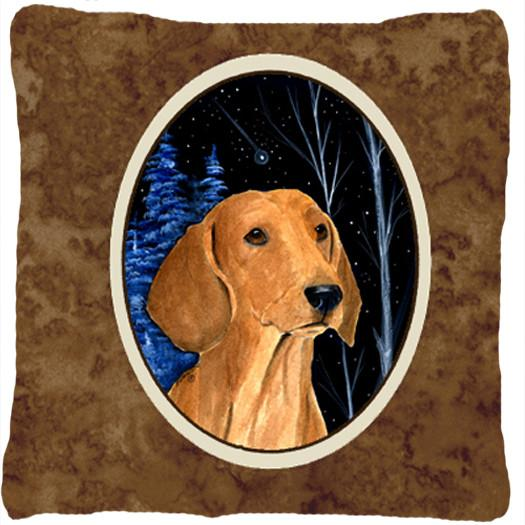 Buy this Starry Night Dachshund Decorative   Canvas Fabric Pillow