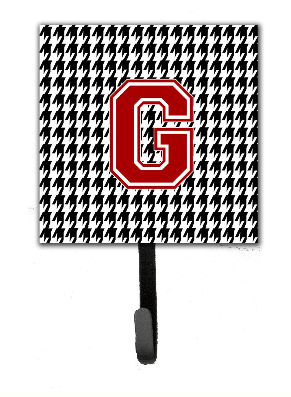Monogram - Initial G Houndstooth Leash Holder or Key Hook CJ1021 by Caroline's Treasures