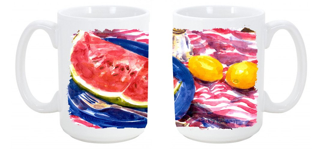 Buy this Watermelon Dishwasher Safe Microwavable Ceramic Coffee Mug 15 ounce 6028CM15