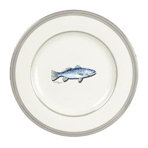 Buy this Fish Speckled Trout Ceramic Dinner Plate Round Platinum Rim