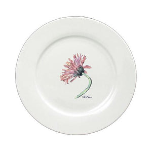 Buy this Flower - Gerber Daisy Round Ceramic White Salad Plate 8853-DPW