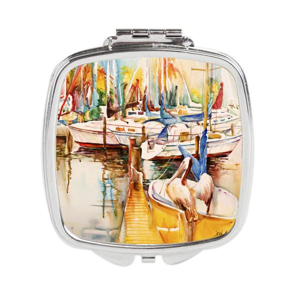 Pelicans and Sailboats Compact Mirror JMK1238SCM by Caroline's Treasures