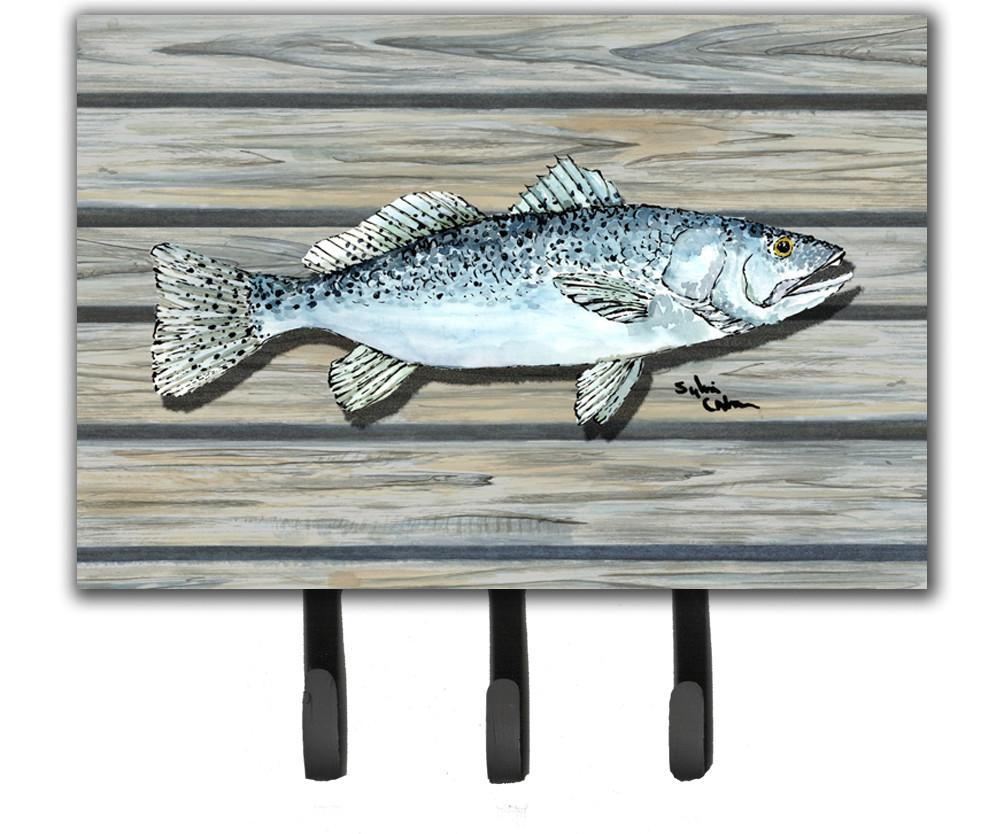 Fish Speckled Trout Leash or Key Holder by Caroline's Treasures