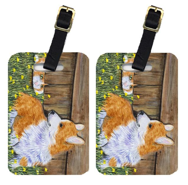 Pair of 2 Corgi Luggage Tags by Caroline's Treasures