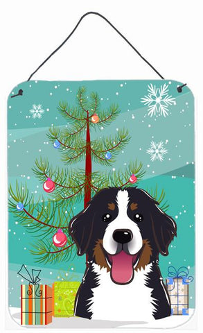 Buy this Christmas Tree and Bernese Mountain Dog Wall or Door Hanging Prints BB1609DS1216