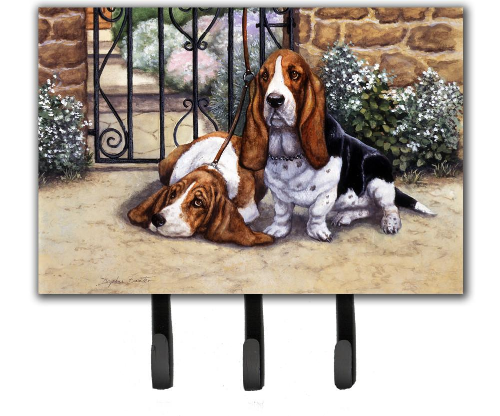 Basset Hound at the gate Leash or Key Holder BDBA0312TH68 by Caroline's Treasures