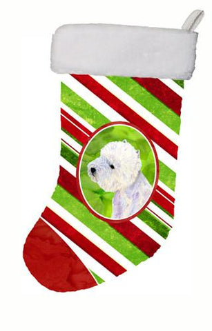 Buy this Westie Candy Cane Holiday Christmas Christmas Stocking LH9225