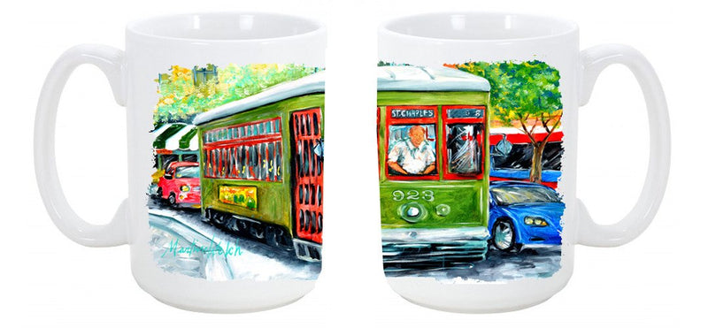 Buy this Street Car Dishwasher Safe Microwavable Ceramic Coffee Mug 15 ounce MW1152CM15