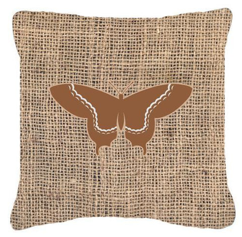 Buy this Butterfly Burlap and Brown   Canvas Fabric Decorative Pillow BB1030