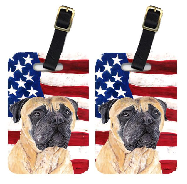 Pair of USA American Flag with Mastiff Luggage Tags SC9031BT by Caroline's Treasures