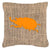 Buy this Beetle Burlap and Orange   Canvas Fabric Decorative Pillow BB1064